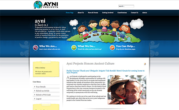 Ayni Projects Website