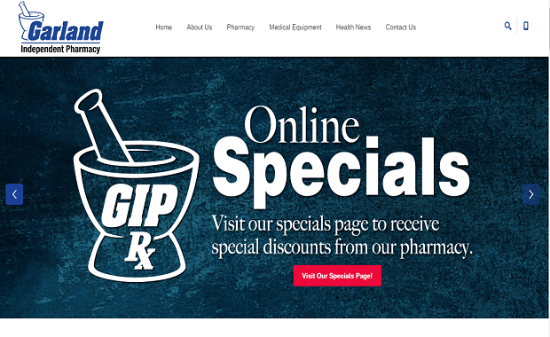 Garland Independent Pharmacy Website