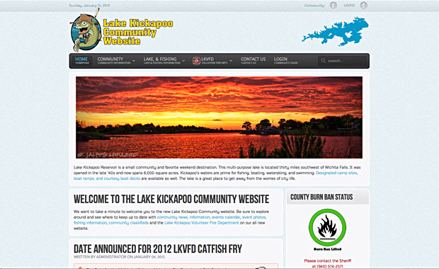 Lake Kickapoo Community Website