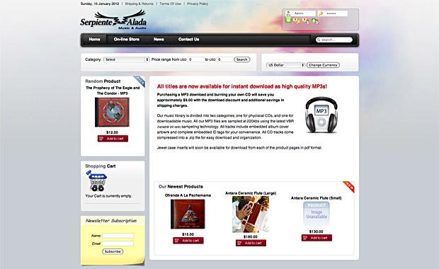 Serpiente Alada Website
